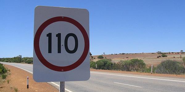 Circulando a 110 km/h