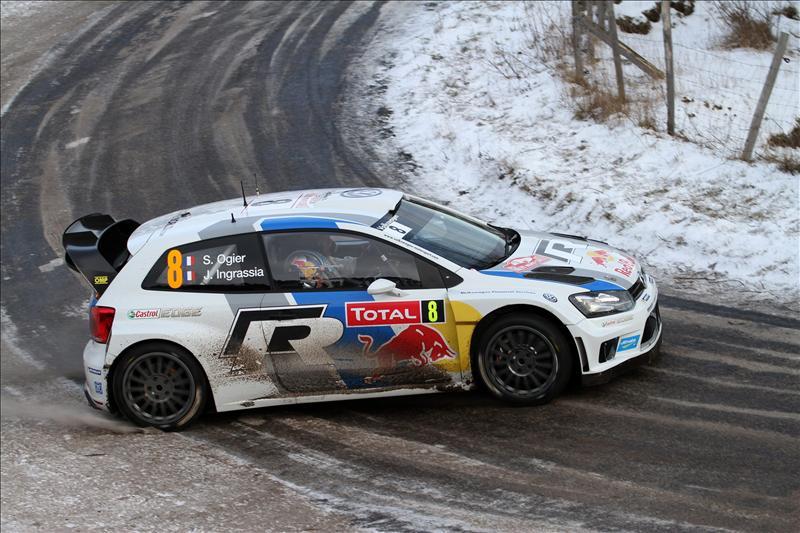 El francés Ogier marca el mejor tiempo en el tramo de calificación en Suecia