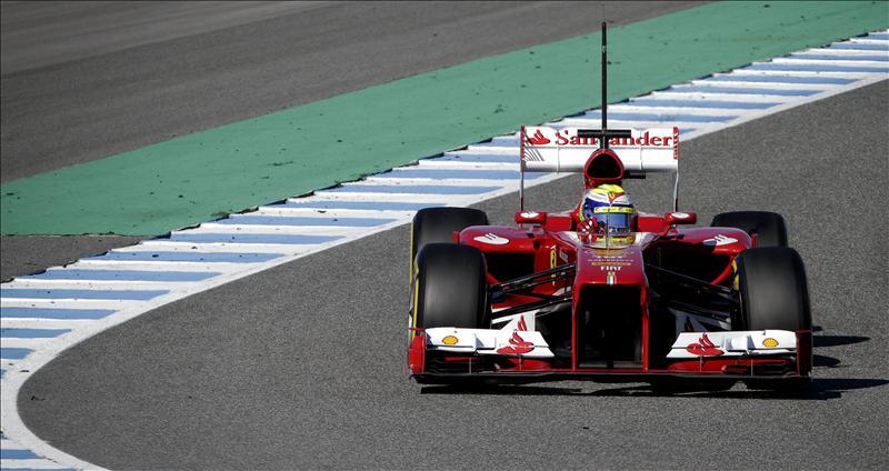 Massa logra el mejor tiempo de los tres primeros días de test en Jerez